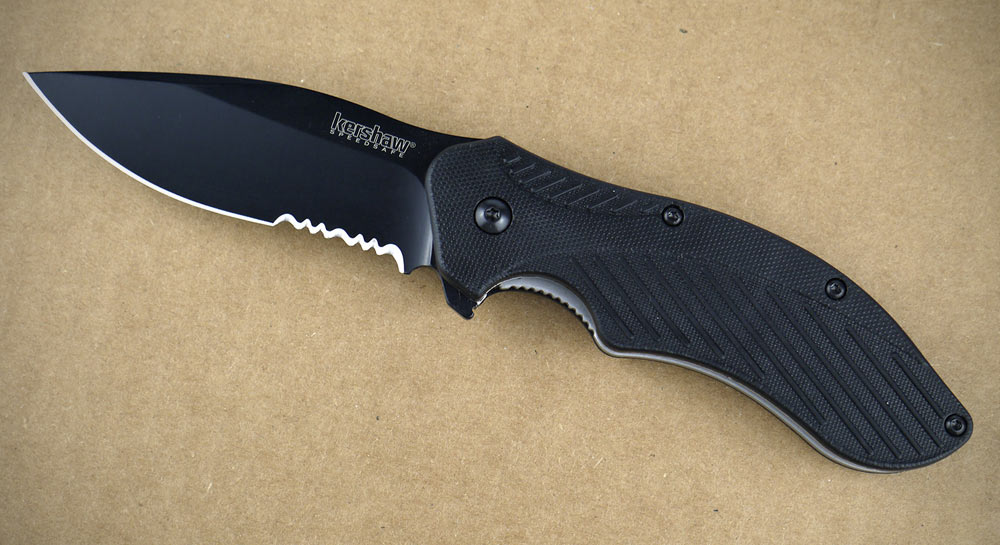 Kershaw Clash Black Serrated Pocket Knife